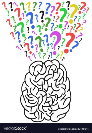 the brain with question mark